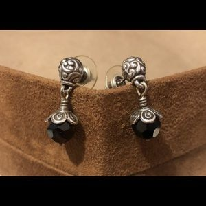 🆕Listing! Brighton earrings with black crystals